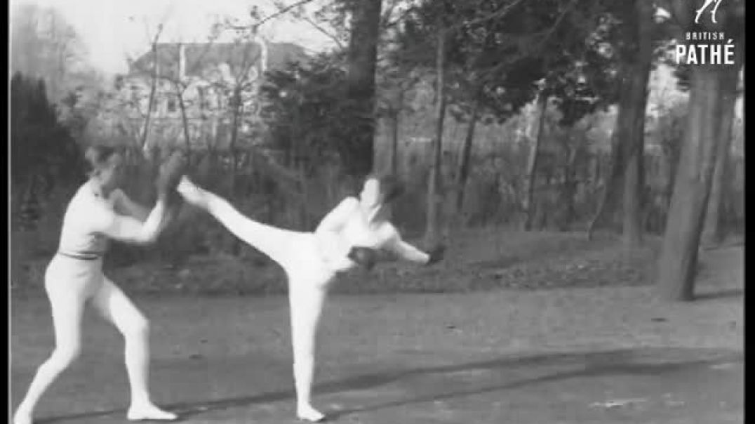 Savate training in 1933