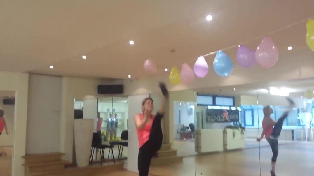 Taekwondo vs Balloons