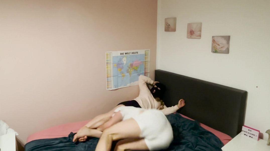 Wrestling on bed