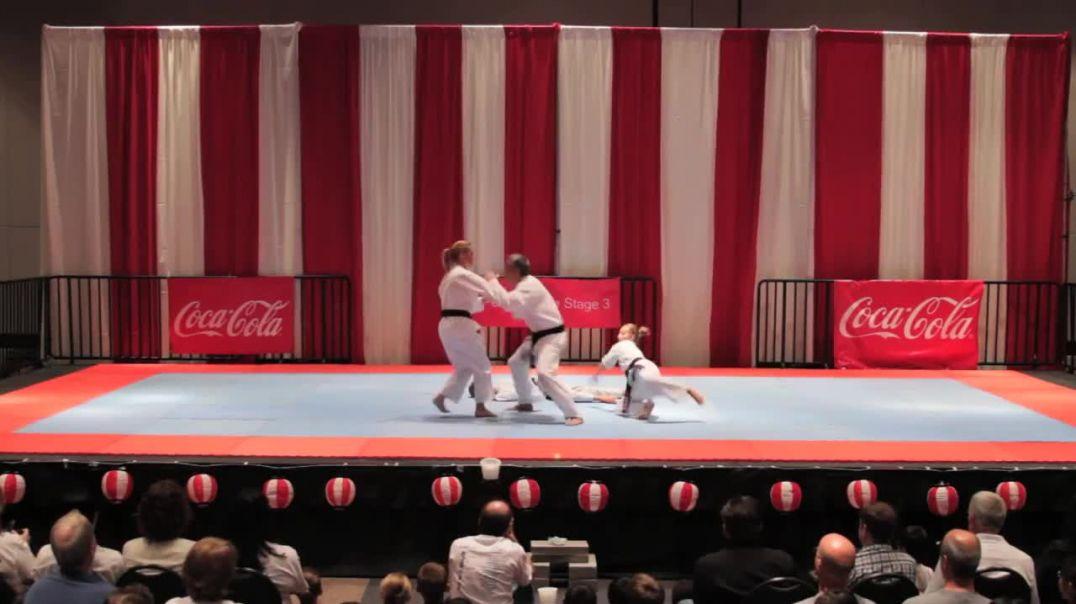 Self defense karate demonstration
